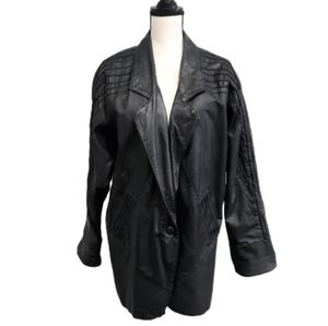 Avanti Vintage Leather Coat Jacket